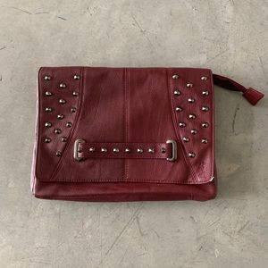 Religion Asos Studded Leather Purse Clutch